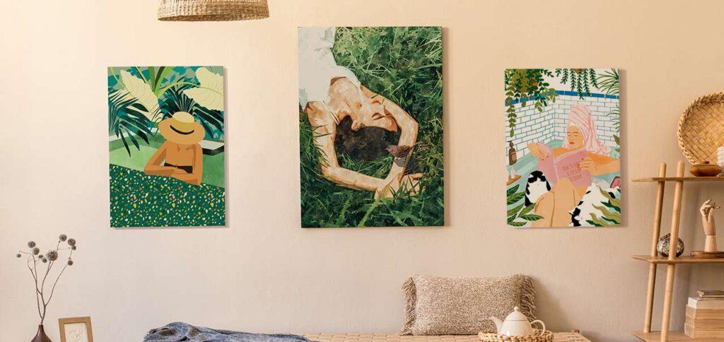 5 Lukisan Dinding Dengan Desain Gambar yang Rileks!