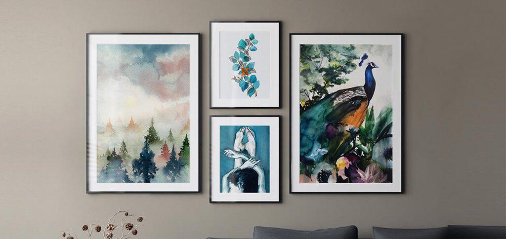 """Lukisan Dinding """"Print"""" yang Dibuat Dengan Proses Lukis """"Hand-Made"""""""