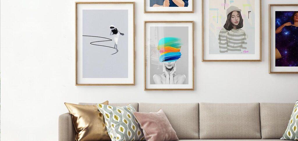 Perempuan adalah Inspirasi Seni Art Print