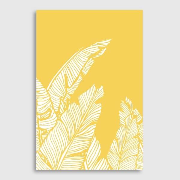DesignDN - Banana Leaves on Yellow