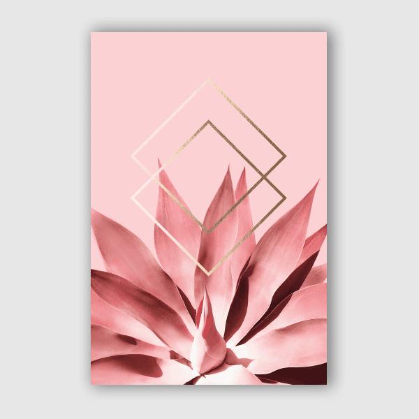 DominiqueVari - Nature Agave Geometry Blush