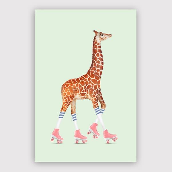Jonas Loose - Rollerskating Giraffe