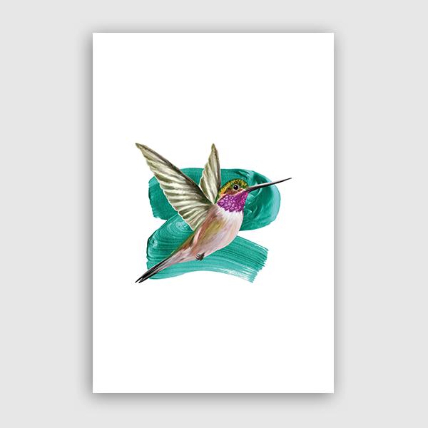 SevenTreesDesign - Modern Humingbird
