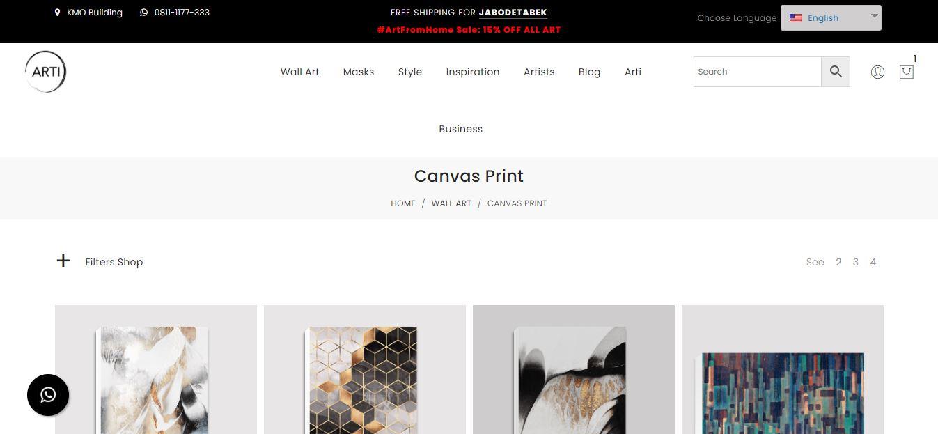 Arti.id Canvas Print