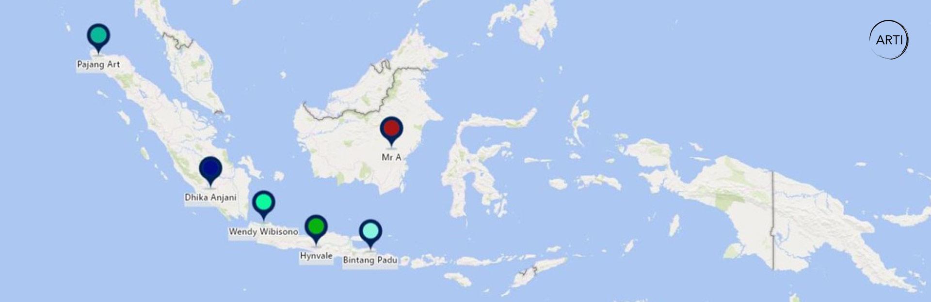 Peta Seniman Indonesia di ARTI