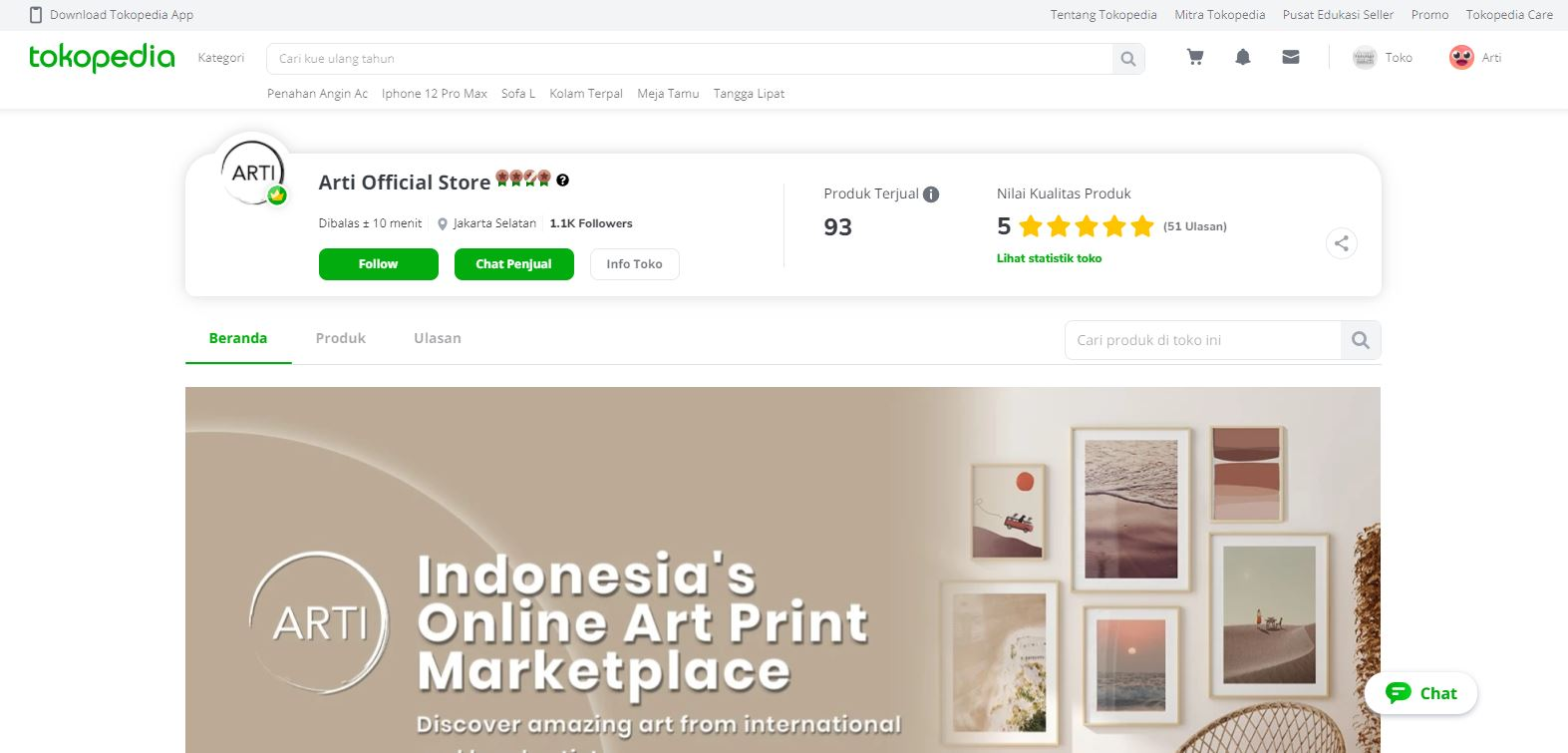 Tokopedia ARTI Official Store