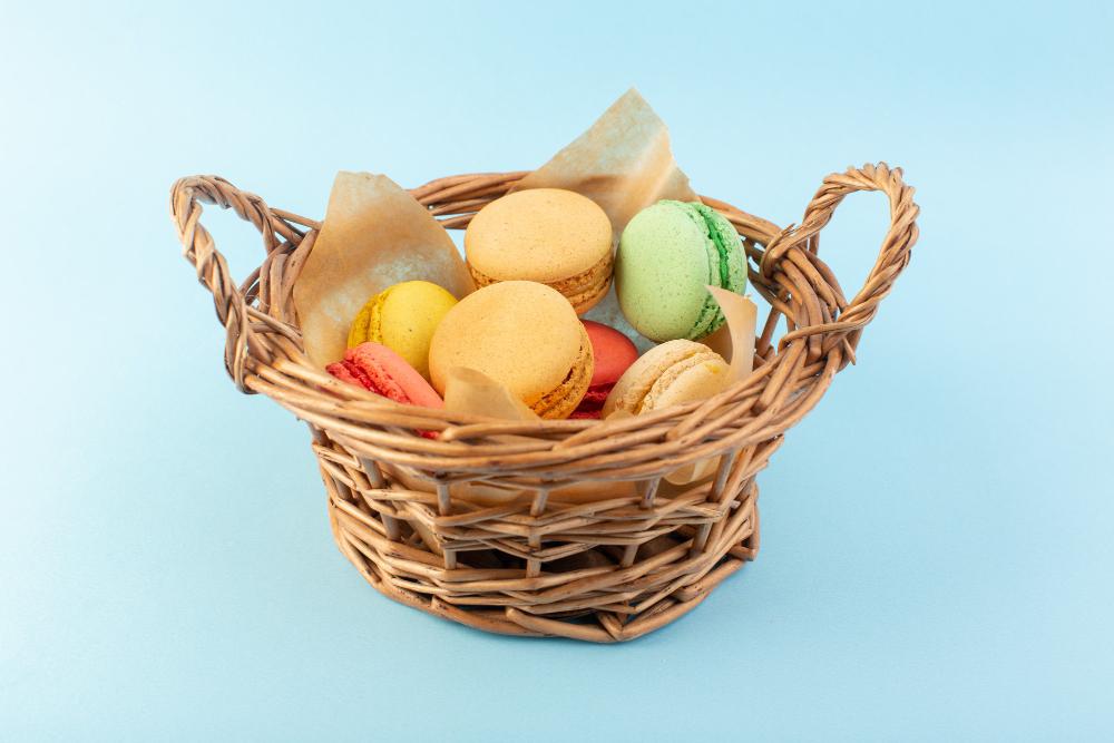 Macaron on the basket