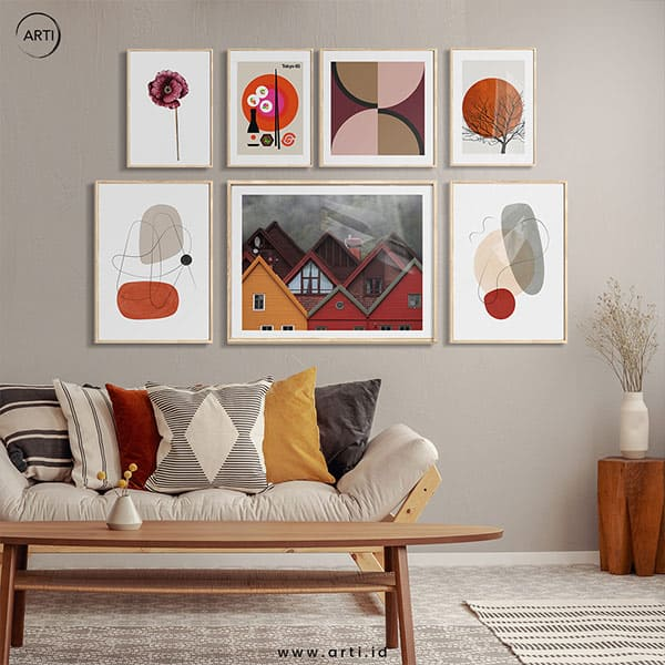 ARTI Wall Art Set - Red-Homes-and-Roses