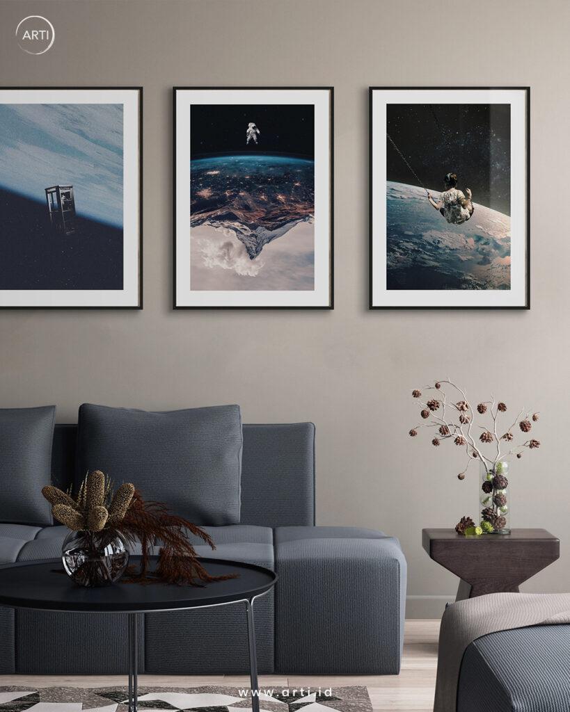 Wall art set dengan tema science