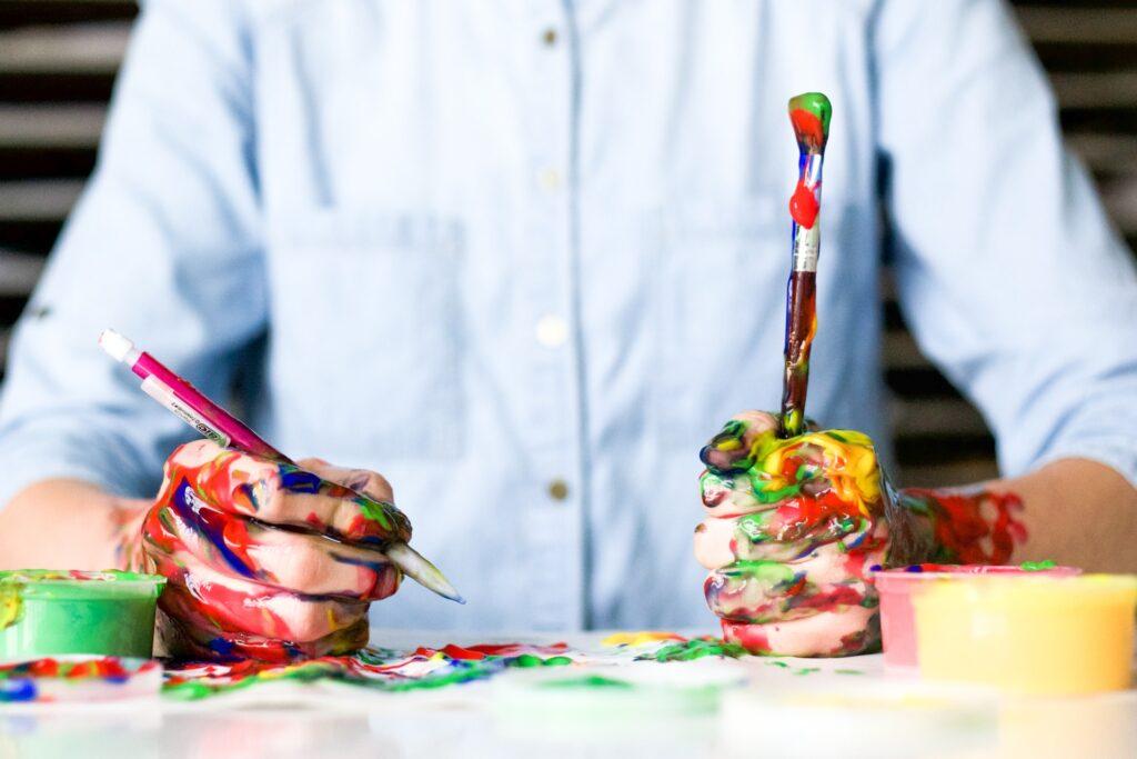 Hand Full of Paint