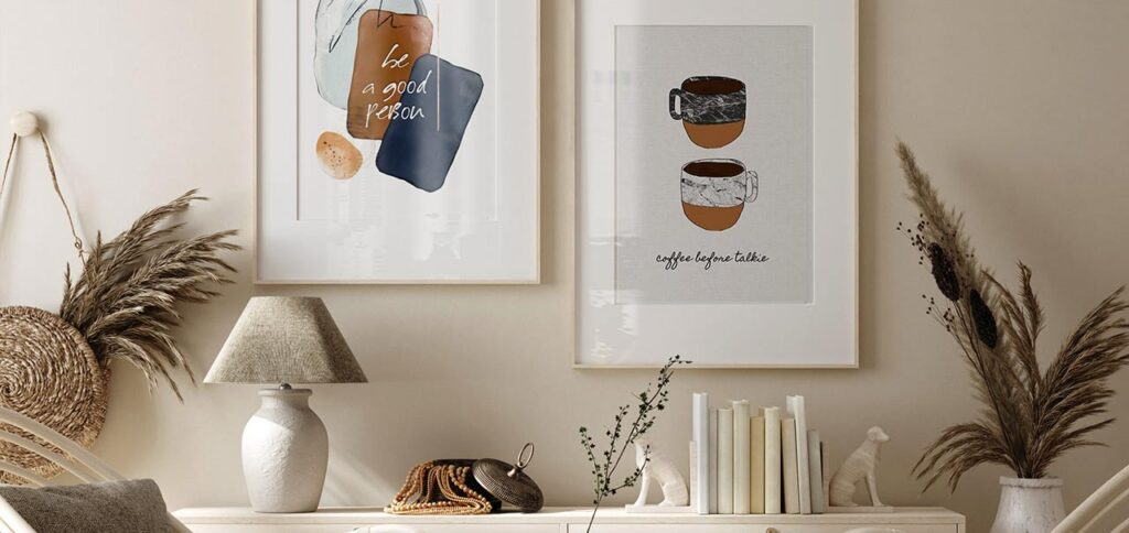 Menggunakan Text Art Untuk Variasi Lukisan Di Ruangan Kamu