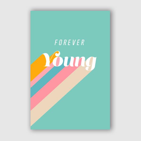 DominiqueVari - Type Forever Young Retro Blue